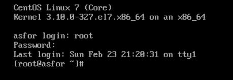 使用新密码进入系统